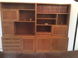 Two separate cabinets for books or collectibles