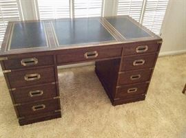 Sligh desk with leather top