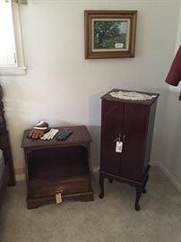 Nightstand and jewelry box