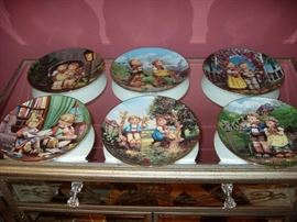 6  plates  from the Hummel plate collection .Little Companions Plate Nr. MA 8282