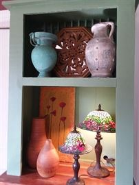 A  pair of wooden vases from Crate &Barrel
