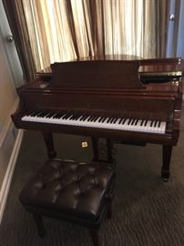 2002 Steinway Baby Grand Piano with CD Player system