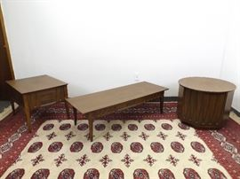 Set of Mid Century Coffee Table, and End Tables