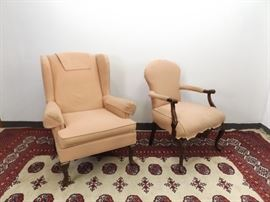 Mid Century King and Queen Chairs