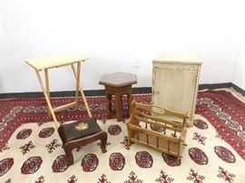 Lot of Vintage Small Wood End Tables, Cabinets, etc.