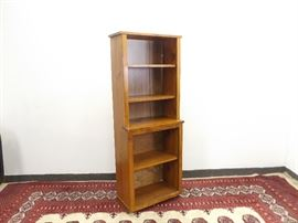 Mid Century Solid Wood Small Cabinet Hutch Shelf
