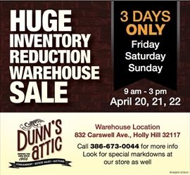 Warehouse Inventory Reduction Sale