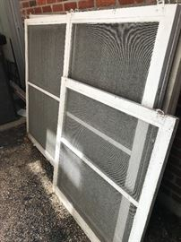 Old wooden window screens...available for immediate purchase.