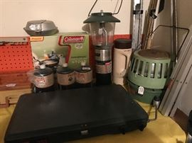Coleman cookstove, lanterns & more.