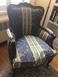 Antique newly reupholstered antique arm chair. $400