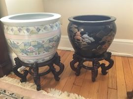 Beautiful Asian potswith stands $150 each