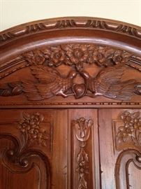 •French Provincial Country style armoire—BUY IT NOW--$425—sophia.dubrul@gmail.com