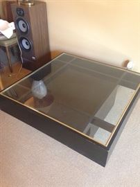 •Large glass topped coffee table—BUY IT NOW--$150—sophia.dubrul@gmail.com
