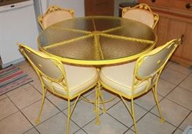Woodard Café table and 4 chairs