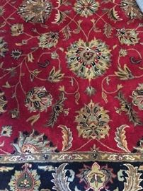 Wool rug from India, larger detail