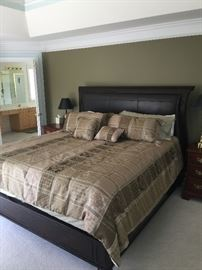 Massive king bed - truly fit for a king