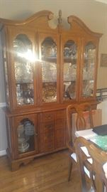 Perfect for the large dining room or a curio cabinet this lighted china cabinet is gorgeous