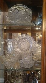 China cabinet filled with beautiful Crystal