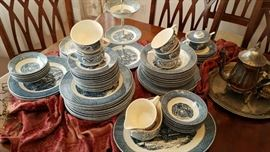 Currier and Ives Blue Dinnerware