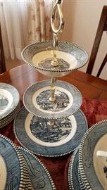 3 Tier Currier & Ives Dessert Tray