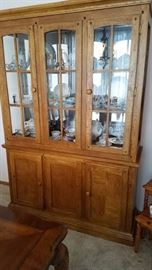 Mission Style China Cabinet. Contemporary and great storage