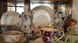 Cup and Saucer Collection as well as Vintage Porcelains