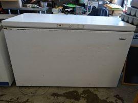 "54"" Whirlpool Free Standing Deep Freezer Model # E ..."