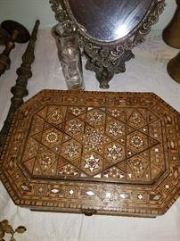 Antique mosaic box