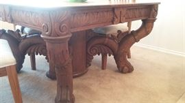 "1800""s carved table."