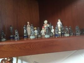 Civil War pewter figurines.