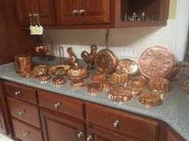 Vintage copper molds!