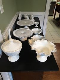 Large collection of Fenton Milk Glass!!