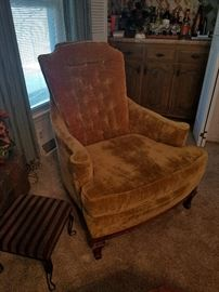 fun and funky vintage velvet chair