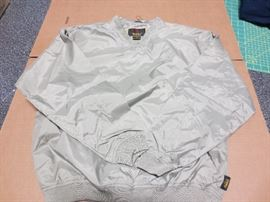 Khaki pullover jacket