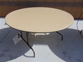 Large Round Heavy Duty Folding Table