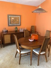 Lane Dining set and Buffet.  Terrific condition and the table expands for an easy eight!