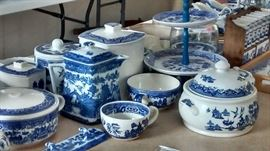 ...more blue willow china