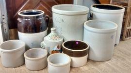 Beautiful Stoneware Crocks