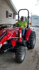 Case IH Farmall 35C Utility Tractor with loader, forks, 4' tiller, 4' brush hog and other attachments (40 actual hours)