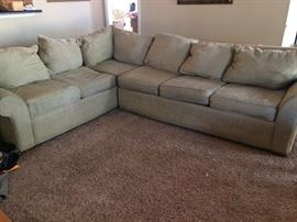 Sectional with Sofa bed $125