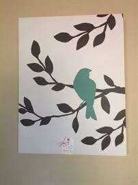 Bird on canvas