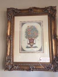 Urn print with ornate frame