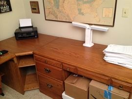 3 desk with corner unit