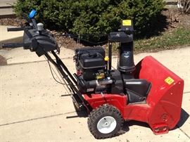 1 year old Toro 826 2 stage snow blower