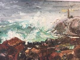 Koizumi Kiyoshi Oil painting Seascape
