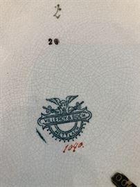 """Villeroy & Boch Mettlach 17.5"""" Large  Bacchanalian Platter"""