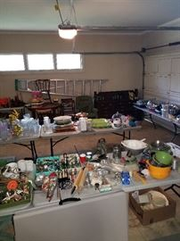Garage full of all types of kitchen items.