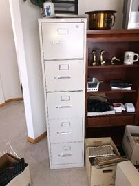 5 drawer file cabinet, by AllSteel