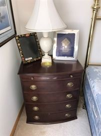 Pair of matching night stands and lamps