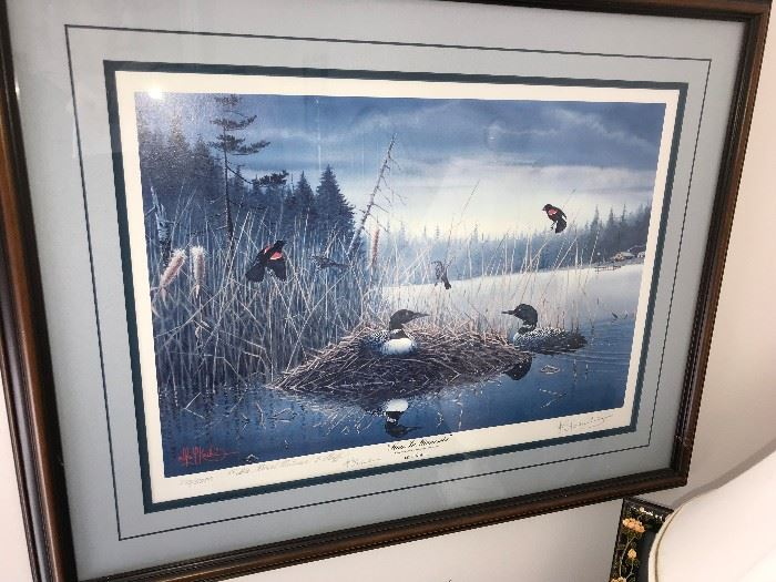 Les Kouba signed and numbered print May in Minnesota